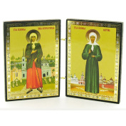 Saint St Matrona Saint Xenia Icon Diptych Russian