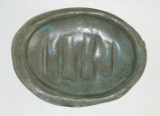 Aunt Chris' Pottery - Hand Made Clay - Counter Top Soap Dish - Blue Green Glazed - Non Stick & Easy To Clean - With that Old Country Look