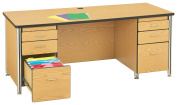 Berries 97000JC210 Teachers Desk, 120cm , Oak