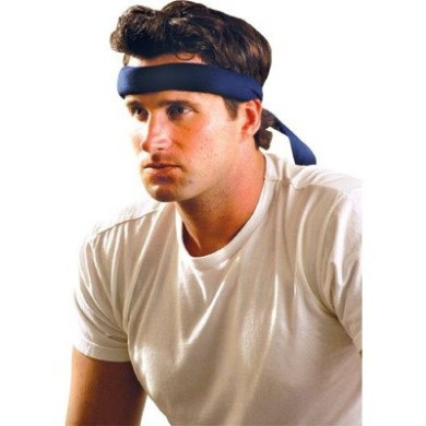 Cooling Headband, Cowboy Blue, Tie Closure, One Size