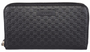 Gucci Women's Leather Micro GG Guccissima Zip Around Wallet