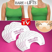 Bare Lifts Instant Pasties - Breast Lift Push It Up Bust Shaper Bra - Strapless Nippleless Tape Adhesive - 30 Count