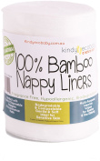 Bamboo Nappy Liners Wipes 300 sheets, Multi-purpose, Eco Friendly environmentally safe, Flushable 100% Biodegradable