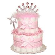 Princess Nappy Cake, Girl Baby Shower, Princess Baby Shower, Baby Girl Pink Princess Sparkly Shower Decor