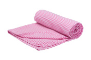 Henry and Brothers Double-layer Toddler Blanket, Pink and White Gingham
