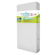 Natural VII Breath-Safe 2 in 1 Memory Foam Crib Mattress with Coconut Fibre & Blended Organic Cotton Cover