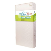Baby Essentials I 2 in 1 Crib Mattress with Organic Cotton Layers