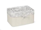 Badger Basket Claremont Bamboo Three Basket Set, White