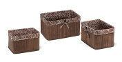 Badger Basket Claremont Three Basket Set, Espresso