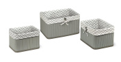 Badger Basket Claremont Three Basket Set, Grey