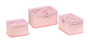Badger Basket Claremont Three Basket Set, Pink