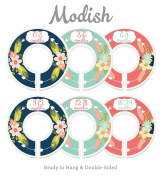 Modish Labels Baby Nursery Closet Dividers, Closet Organisers, Nursery Decor, Baby Girl, Flowers, Pink, Mint, Navy Blue, Arrows, Tribal