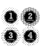NEW Baby Month Stickers Baby Tribal Arrows Months 1-12 Monthly Age Sticker Girls Boys 1071