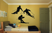 Wall Vinyl Sticker Decals Mural Room Design Pattern Art Decor Ski Sport Winter Extreme Snow bo2218