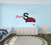 Custom Name Sport Car - Luxury Best Seller Series - Baby Boy Decoration - Mural Wall Decal Sticker For Home Interior Decoration Car Laptop (AM)