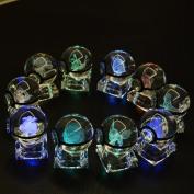 S-SO Cute K9 Crystal ball 3D Pokemon Elf Night Bedroom LED desk table RGB 7 colour changing Light lamp