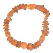Adult Amber Handmade Bracelet - Genuine Baltic Amber for best price - Elastic