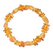 Handmade Woman Amber Bracelet - Genuine Baltic Amber for best price - Elastic
