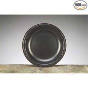 Genpak Black Laminated Plate, 23cm Diameter -- 500 per case.