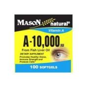 Mason Natural Vitamin A-10,000 Iu Softgels From Fish Liver Oil - 100 Ea