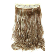 Wigs, Hatop 5Pcs Clip False Hair Synthetic Hair Extension Curly Heat Resistant Hair