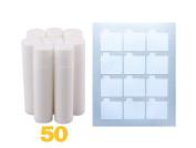 Lip Balm Stick Tubes, Cosmetic Containers Lip Balm - BPA Free Lip Balm Empty Tubes (50 white) & Premium Waterproof Lip Balm Tube DIY Sticker Labels 60 Labels (5 Sheets) for DIY Lip Balm Kit