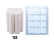 Lip Balm Stick Tubes, Cosmetic Containers Lip Balm - BPA Free Lip Balm Empty Tubes (100 white) & Premium Waterproof Lip Balm Tube DIY Sticker Labels 108 Labels (9 Sheets) for DIY Lip Balm Kit