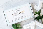 Oil Pulling Kit - For naturally whiter teeth, fresher breath, and a healthier smile. Kismet Coco Rinse. Organic, Natural Coconut Oil. 14 Day Supply - Delicious Mint Flavour
