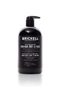 Brickell Men's Rapid Wash - 3 in 1 Body Wash for Men - Natural & Organic