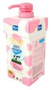 YOKO Milky Body Lotion Non-Greasy With Milk Protein 400ml. Pink & White