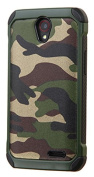 MyBat Carrying Case for ZTE-N9132 - Retail Packaging - Camouflage Green Backing/Black