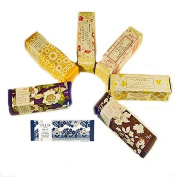 Lollia Petite Treat 7 Piece Handcreme Collection with White Gift Box Tied With Red Ribbon Bow