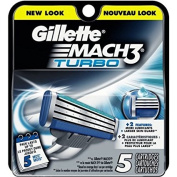 Gillette Mach3 Turbo Cartridges 5 count WLM