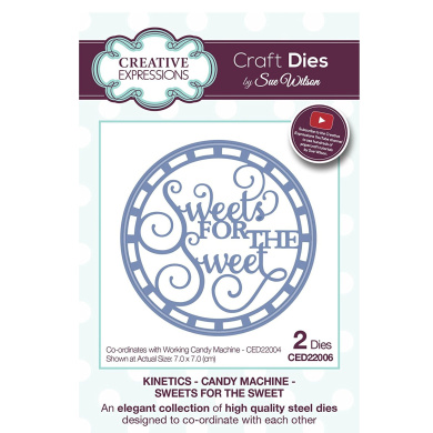 Craft Die CED22006 Sue Wilson Kinetics - Candy Machine - Sweets For The Sweet