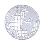 Awakingdemi Earth Globe Scrapbooking Metal Cutting Dies DIY Photo Album Decorative Steel Embossing Cutting Dies