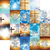 His Word - Devoted Faith 2 - 12X12 Scrapbook Papers by Reminisce - 5 sheets
