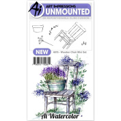 Art Impressions - Watercolour Cling Rubber Stamp - Mini Wooden Chair