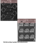 Little house Chocolate Candy Mould, Keys chocolate candy mould with Copyrighted moulding Instructions
