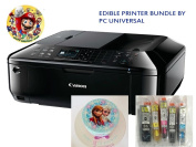 Edible Printer Bundle- Brand New Canon All-in-One Printer with Edible Paper and Inks by PC Universal