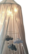 Mosquito Net Canopy, Didihou Round Lace Dome Bed Canopy Netting Princess Mosquito Net Bonus Hanging Decorations for Baby Kids Reading Play Indoor Games House