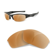 Sunglasses Restorer Polarised Brown Replacement Lenses for Oakley Flak Jacket