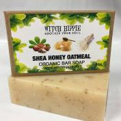SHEA HONEY OATMEAL 120ml ORGANIC SOAP BAR BY WITCH HIPPIE
