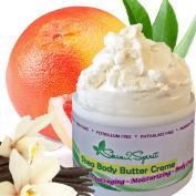 Organic Fair Trade Shea Body Butter Creme (VANILLA GRAPEFRUIT) Natural, Organic, Highest Quality Shea Butter, Coconut Oil, Cocoa Butter, Tamanu Oil & more!