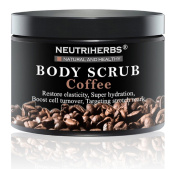 Neutriherbs Coffee Body Scrub (210ml) – Face Cleanser and Body Exfoliate Restores Elasticity – Super Hydration for Skin, Anti-Ageing Collagen Booster – Targets Stretch Marks