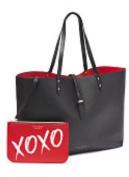 Victoria's Secret Valentine Tote bag and mini makeup bag XOXO