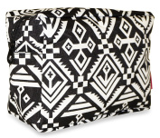 Ever Moda Black Mayan Cosmetic Pouch