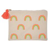Meri Meri Large Canvas Pouch/Makeup Bag - Rainbow
