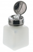 Menda Scientific Prods 35305 One-Touch Square Bottle, 2.5cm Height, 2.5cm Wide, 2.5cm Length, 4 Fluid_Ounces, HDPE, Natural