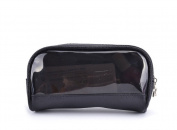 Drasawee Women's Waterproof Transparent Travel Makeup Bag Toiletry Cosmetics Bag Black