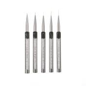 Fheaven 5pcs Professional Brushes Nail Beauty Nail Small Nail Art Tool Hair